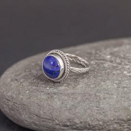 Srebrny pierścionek z lapisem lazuli (rozm.16)