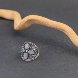 Srebrny pierścionek z opalem australijskim (rozm.11)