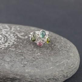 Srebrne pierścionki z turmalinem (rozm.9)