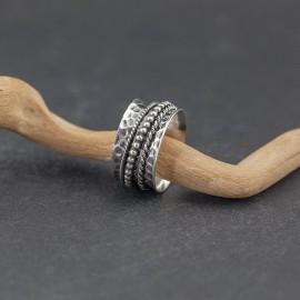 Srebrny ozdobny pierścionek (rozm.20)