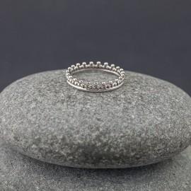 Srebrny ozdobny pierścionek (rozm.11+, 14)