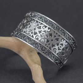 Niezwykła srebrna bransoleta bangla