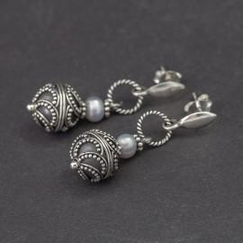 Srebrne kolczyki z perełkami