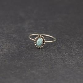 Srebrny pierścionek z larimarem (rozm.12)
