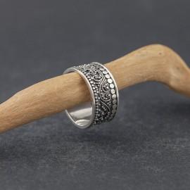 Srebrna obrączka w stylu orientalnym (rozm.16 i 18)