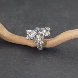 Srebrny pierścionek z iolitem (rozm.18)
