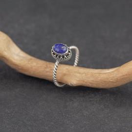 Srebrny pierścionek z lapisem lazuli (rozm.14)