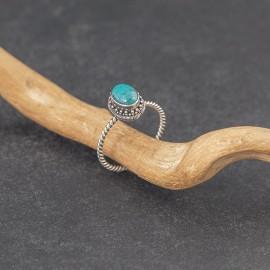 Srebrny pierścionek z turkusem (rozm.20)
