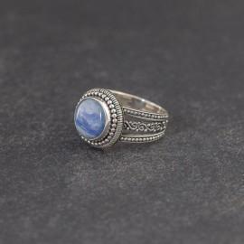 Srebrny pierścionek z kyanitem (rozm.17)