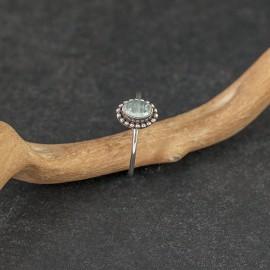 Srebrny pierścionek z turmalinem (rozm.12)