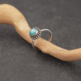 Srebrny pierścionek z amazonitem (rozm.12)