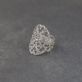 Srebrny ażurowy pierścionek (rozm.14)