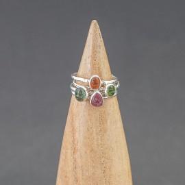 Zestaw pierścionków z turmalinem (rozm.14)
