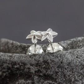 Srebrne sztyfty frangipani