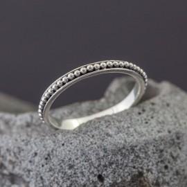 Srebrny pierścionek - obrączka (rozm.16)
