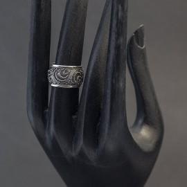 Srebrna obrączka w stylu orientalnym (rozm.12)