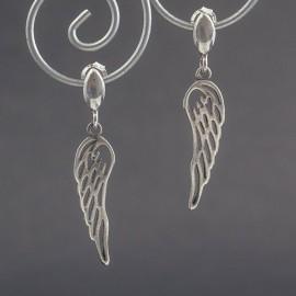 Kolczyki skrzydła ze srebra