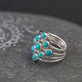 Srebrny pierścionek z turkusem (rozm.11)