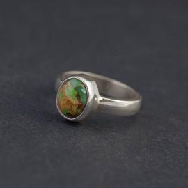 Srebrny pierścionek z turkusem (rozm.16)