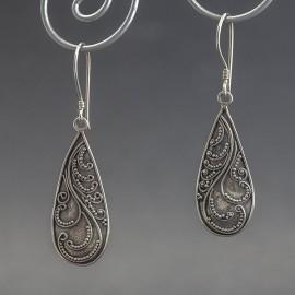 Srebrne kolczyki w orientalnym stylu