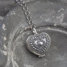 Srebrny sekretnik serce