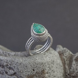 Srebrny pierścionek z turkusem (rozm.15)