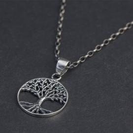 Srebrny wisiorek - drzewo życia