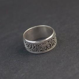 Srebrna obrączka w orientalnym stylu (rozm.16)