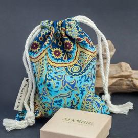 Duży woreczek na biżuterię - turkus