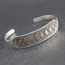 Misternie zdobiona bransoleta z 18-karatowym złotem