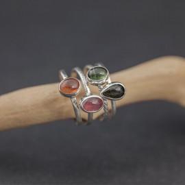 Srebrne pierścionki z turmalinem (rozm.12)