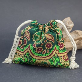 Mały woreczek na biżuterię - szmaragd/zieleń