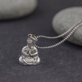 Srebrny wisiorek Budda