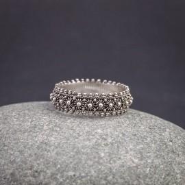 Srebrny ozdobny pierścionek (rozm.12)