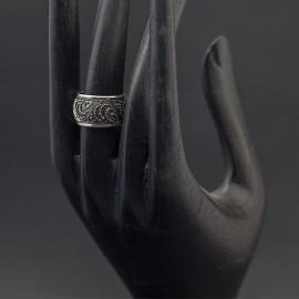 Srebrna obrączka w orientalnym stylu (rozm.15)