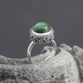 Srebrny pierścionek z awenturynem