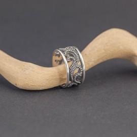 Srebrny ażurowy pierścionek (rozm.15)